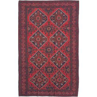 ecarpetgallery Hand-knotted Rizbaft Red Wool Rug (6'5 x 10'4)