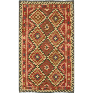 ecarpetgallery Handmade Anatolian Red Wool Kilim Rug (4'10 x 7'10)