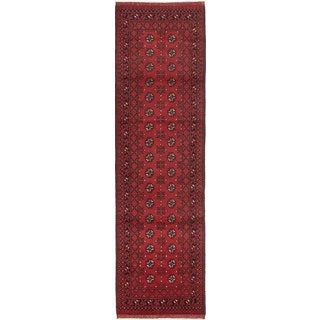 ecarpetgallery Hand-knotted Khal Mohammadi Red Wool Rug (2'9 x 9'5)