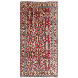 ecarpetgallery Hand-knotted Antique Shiravan Red Wool Rug (4'11 x 10')