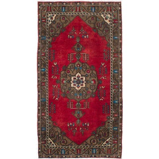 ecarpetgallery Hand-knotted Konya Anatolian Red Wool Rug (5'2 x 9'8)