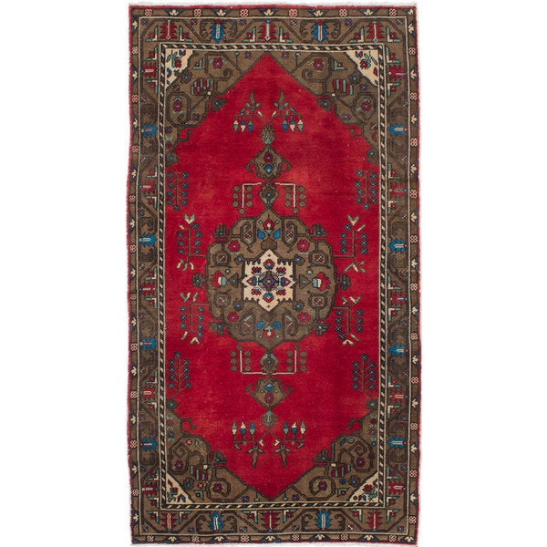 ecarpetgallery Hand-knotted Konya Anatolian Red Wool Rug (5'2 x 9'8) - 5'2 x 9'8