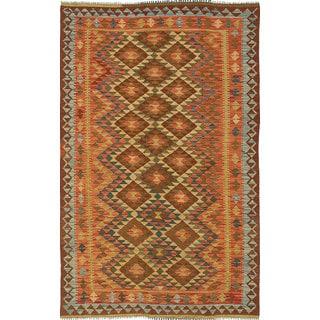 ecarpetgallery Handmade Anatolian Brown Wool Kilim Rug (4'8 x 7'9)