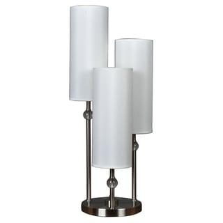 Crestview Collection 64-inch Nickel Floor Lamp