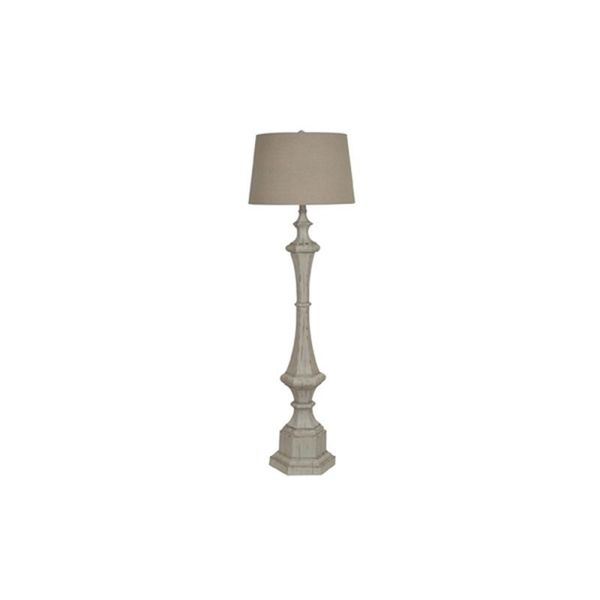 Crestview Collection 61.5-inch White Wash Floor Lamp