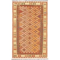 ecarpetgallery Handmade Anatolian Brown Wool Kilim Rug (5'2 x 8'3)