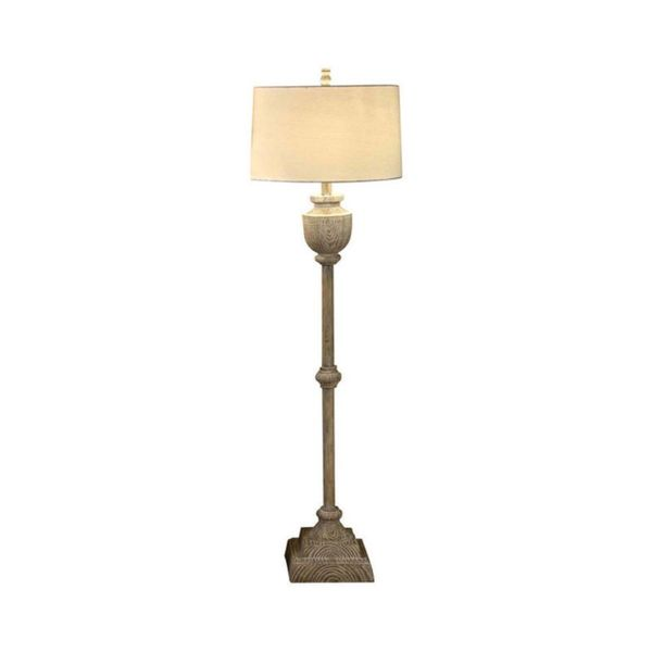 Crestview Collection 63-inch Bleached Wood Floor Lamp