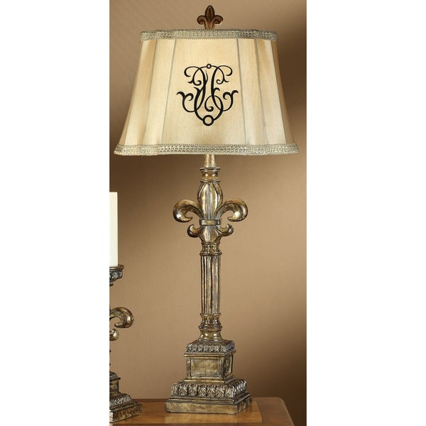 Florence Silvered Opulence 33.25-inch Table Lamp