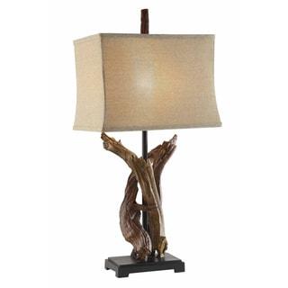 Crestview Collection 63-inch Bison Brown Floor Lamp