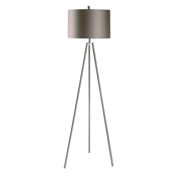 amazing Brushed Nickel Etagere Part - 15: Crestview Collection 60-inch Brushed Nickel Floor Lamp