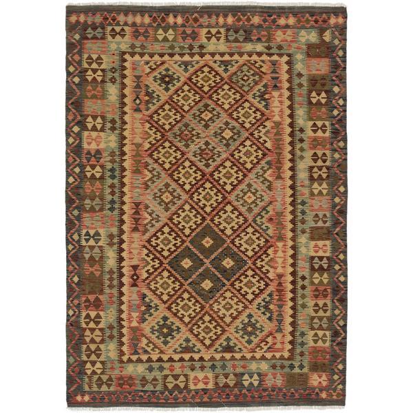 Shop Ecarpetgallery Handmade Kashkoli Beige And Brown Wool