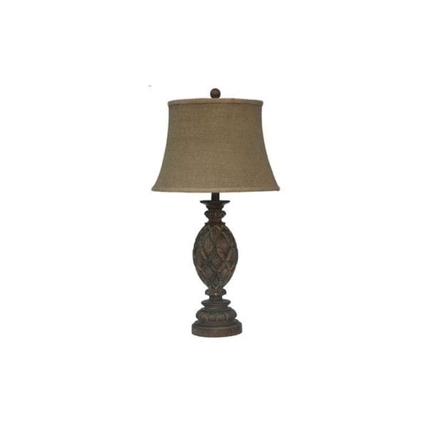 Crestview Collection 29 in. Rustic Wood Table Lamp