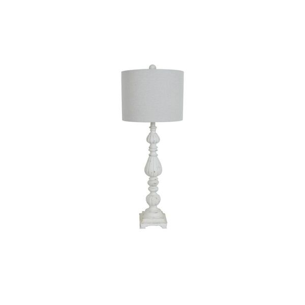 Crestview Collection 34.5-inch White Wash Table Lamp