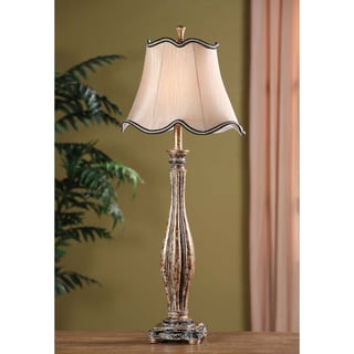 Crestview Collection 32.25-inch White and Grey Table Lamp