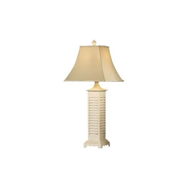 Crestview collection 34 inch grey wash and white shutter table lamp crestview collection 34 inch grey wash and white shutter table lamp aloadofball Images