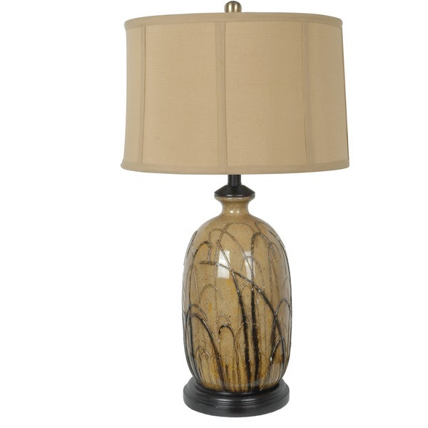Nigel Toffee and Black 29.25-inch Table Lamp