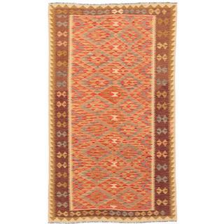 ecarpetgallery Handmade Anatolian Red Wool Kilim Rug (5' x 8'6)