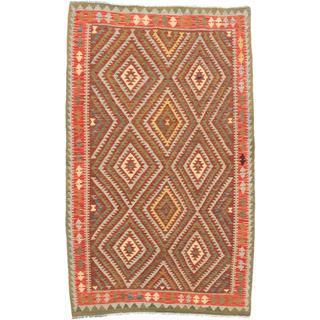 ecarpetgallery Handmade Anatolian Red Wool Kilim Rug (5' x 8'2)