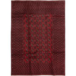 ecarpetgallery Hand-knotted Khal Mohammadi Red Wool Rug (6'5 x 8'10)