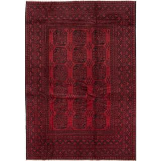 ecarpetgallery Hand-knotted Khal Mohammadi Red Wool Rug (6'7 x 9'6)