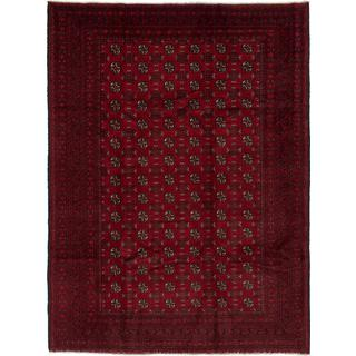 ecarpetgallery Hand-knotted Khal Mohammadi Red Wool Rug (6'10 x 9'2)