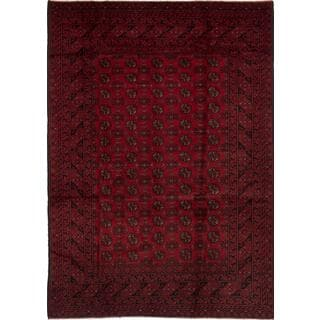ecarpetgallery Hand-knotted Khal Mohammadi Red Wool Rug (6'6 x 9'4)