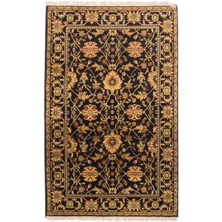 ecarpetgallery Royale Black Wool Rug (5' x 8')