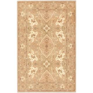 ecarpetgallery Handmade Tabriz Ht Beige Wool Rug (5'3 x 8'3)