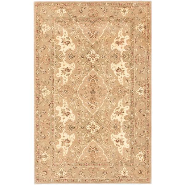 ecarpetgallery Handmade Tabriz Ht Beige Wool Rug - 5'3 x 8'3