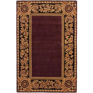 ecarpetgallery Handmade Elegance Red Wool Rug (5'3 x 8')