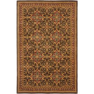 ecarpetgallery Handmade Elegance Brown Wool Rug (5'3 x 8')