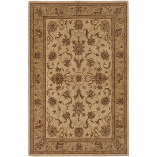 ecarpetgallery Handmade Elegance Beige Wool Rug (5'3 x 8')