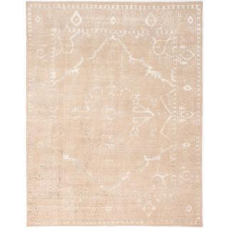 ecarpetgallery Hand-knotted La Seda Beige Wool Rug - 8' x 10'