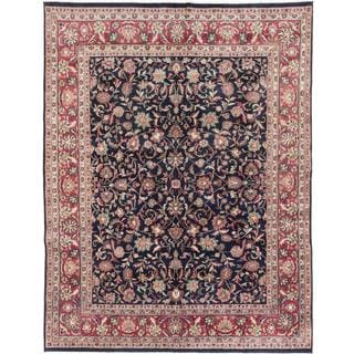 ecarpetgallery Hand-knotted Royal Mahal Blue Wool Rug (7'7 x 9'11)