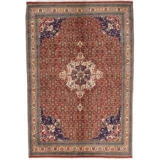 ecarpetgallery Hand-knotted Bijar Brown Wool Rug (6'8 x 9'8)