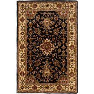 ecarpetgallery Handmade Timeless Black Wool Rug (5'3 x 8')