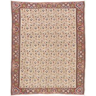 ecarpetgallery Handmade Persian Senneh Beige Wool Kilim Rug (7'8 x 9'7)