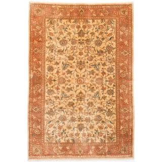 ecarpetgallery Hand-knotted Persian Sarough Yellow Wool Rug (6'5 x 9'5)