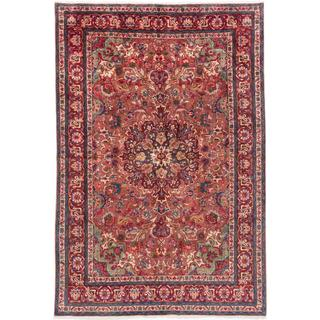 ecarpetgallery Hand-knotted Persian Tabriz Brown and Red Wool Rug (6'9 x 9'10)