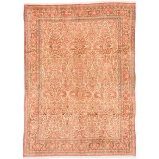 ecarpetgallery Hand-knotted Persian Bijar Beige and Brown Wool Rug (7'1 x 9'9)