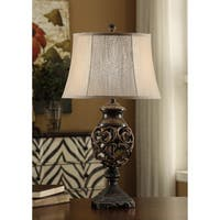 Scrolled Iron Silver Bronze 31-inch Table Lamp
