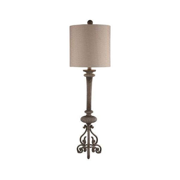 Crestview Collection 38-inch Distressed Wood Table Lamp