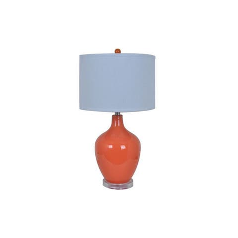 Crestview Collection 27-inch Orange Table Lamp