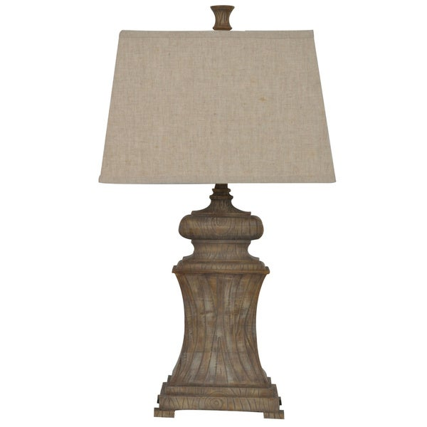 Lombardi Aged Wood 31-inch Table Lamp