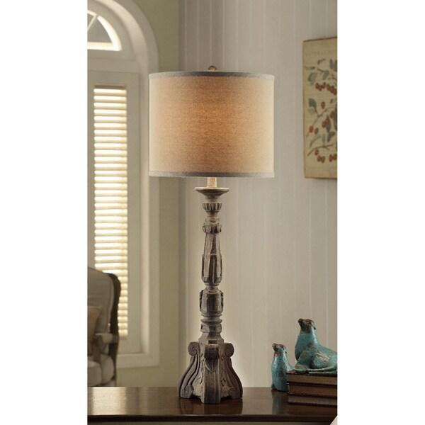 Parisian Grey Wood 37-inch Table Lamp