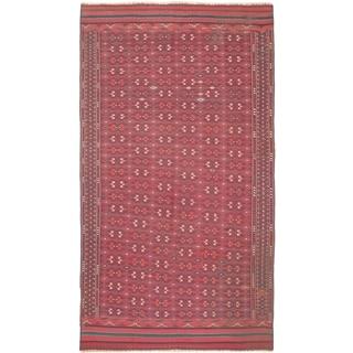 ecarpetgallery Handmade Shiravan Sumak Blue and Red Wool Sumak Rug (5'10 x 10'9)