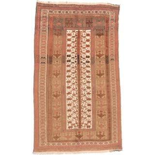 ecarpetgallery Hand-knotted Tajik Caucasian Beige and Brown Wool Rug (6' x 10')