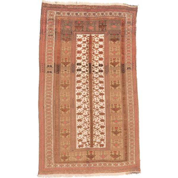 ecarpetgallery Hand-knotted Tajik Caucasian Beige and Brown Wool Rug (6' x 10')
