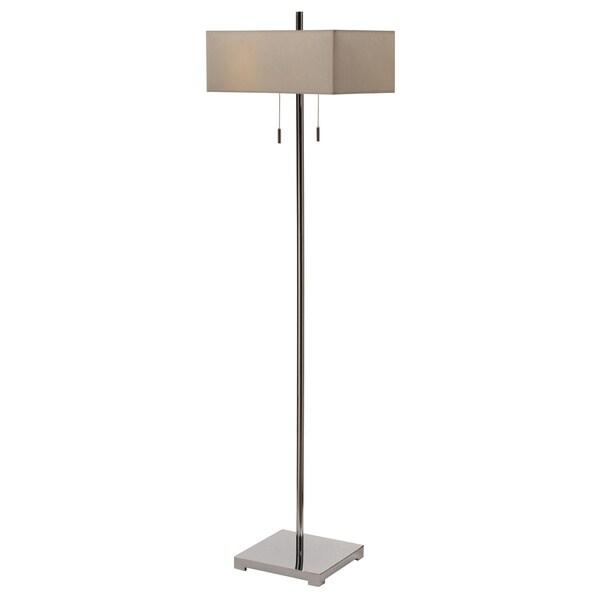 Orlo Brushed Steel 57.5-inch Floor Lamp
