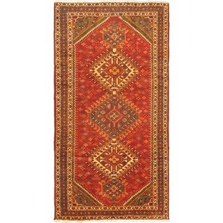 ecarpetgallery Hand-knotted Persian Bakhtiar Red Wool Rug (5'2 x 10'9)